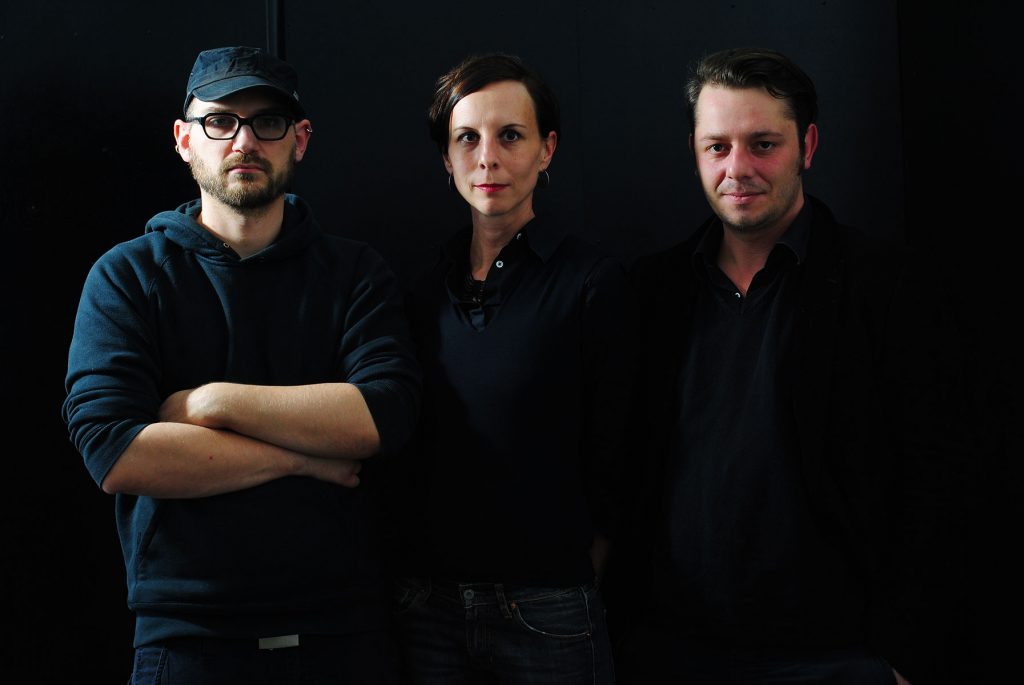 Verlagshaus-Team: Dominik Ziller, Andrea Schmidt, Johannes Frank // Foto: © Hans Praefke